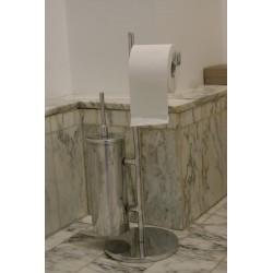 Serviteur wc en aluminium avec brosse