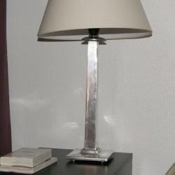 Pied de lampe métal aluminium lisse