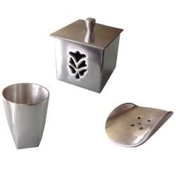 Accessoires de salle de bains aluminium