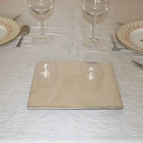 Dessous de plat carré lisse en aluminium