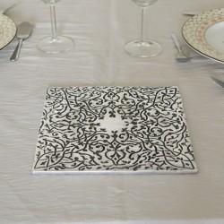 Dessous de plat carré gravé en aluminium