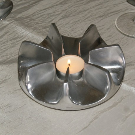 Chauffe plat bougie en aluminium