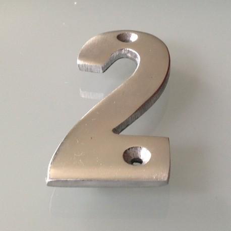 Numéro de Rue à Visser Aluminium 10 x 4 cm N°2
