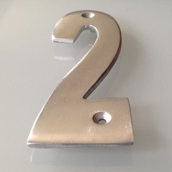 Numéro de Rue à Visser Aluminium 15 x 6 cm N°2