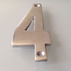 Numéro de Rue à Visser Aluminium 15 x 6 cm N°4