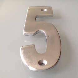 Numéro de Rue à Visser Aluminium 15 x 6 cm N°5