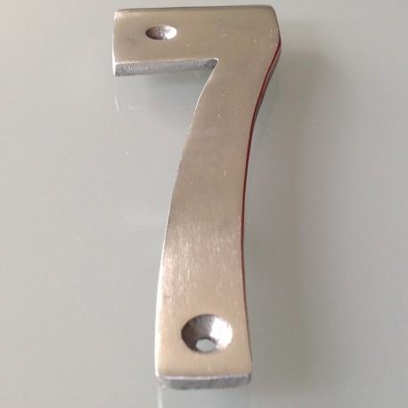 Numéro de Rue à Visser Aluminium 15 x 6 cm N°7