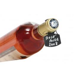 20 étiquettes pour bouteilles et feutre effaçable