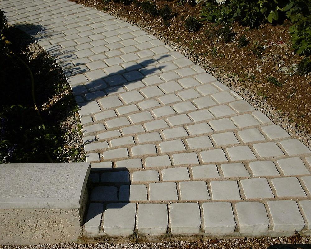 Comment Placer Des Dalles De Jardin pavé de terrasse en pierre reconstituée à poser 16 x 16 x 6