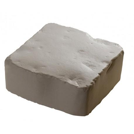 Pavé de terrasse en pierre reconstituée à poser 16 x 16 x 6 cm blanc