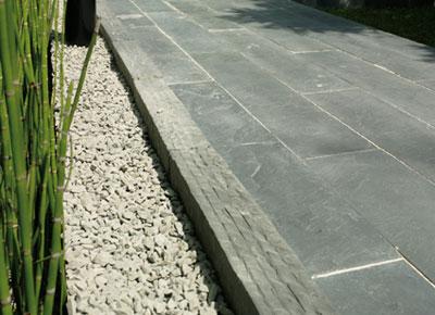 bordure pierre reconstituée schiste