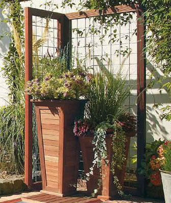 jardinière bois exotique