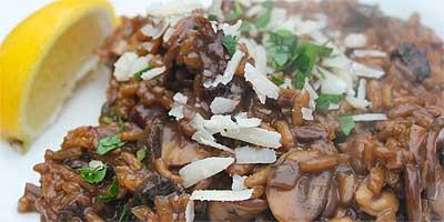 risotto aux champignons kadai