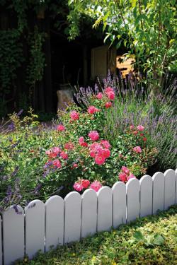 Créer des parterres dans votre jardin avec des bordures en bois !