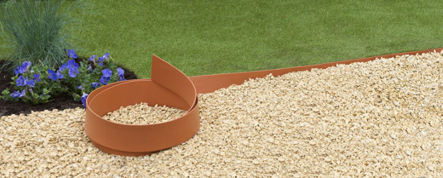 bordure plastique terracotta