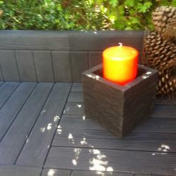bordure en pierre reconstituée imitation bois