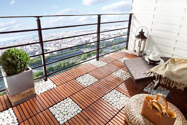 comment poser des dalles en pierre naturelle sur son balcon With photo de jardin de particulier 8 comment poser des dalles en pierre naturelle sur son balcon