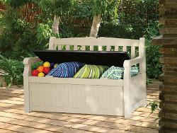 banc de jardin avec coffre
