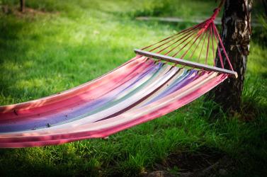 hamac pour relaxation dans son jardin