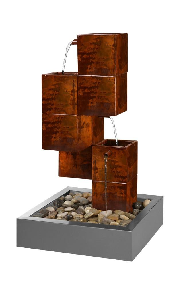 fontaine acier cubique