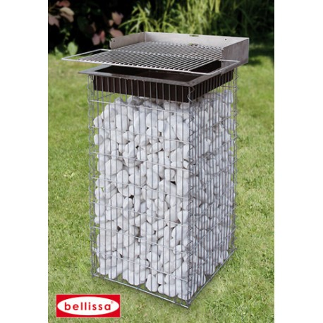 installer un barbecue en gabion dans votre jardin. Black Bedroom Furniture Sets. Home Design Ideas