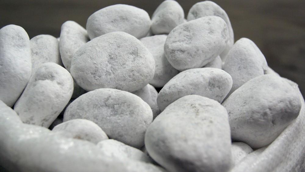 galets de marbre blanc pour gabion
