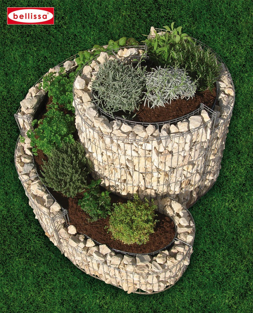 la jardini re gabion en spirale le potager de votre jardin. Black Bedroom Furniture Sets. Home Design Ideas