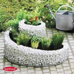 jardiniere spirale gabion 57 x 42 cm sans galet