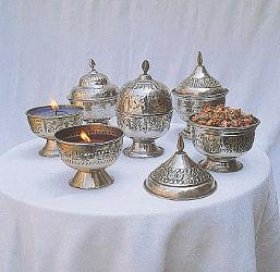 Bougeoir métal cire parfumée