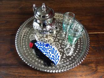 plateau et service à thé