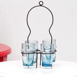 porte verres à thé en fer