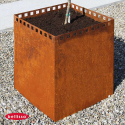 jardinière acier carrée corten