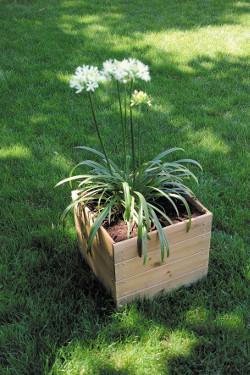 jardinière bois carrée