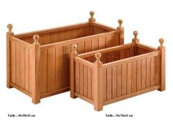jardinières bois rectangulaires