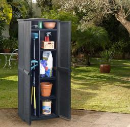 armoire haute en plastique pour jardin