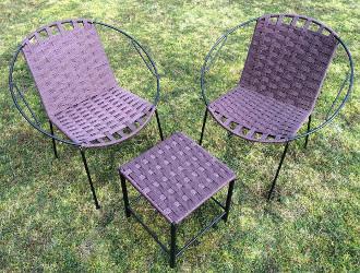 tabouret bas et fauteuils