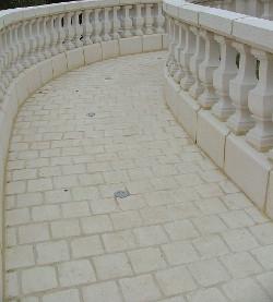 pavés pierre reconstituée à coller pour allée